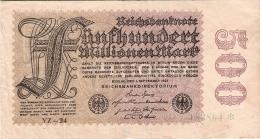 ALLEMAGNE   500 Millionen Mark   1/9/1923   P. 110d - [ 3] 1918-1933 : Weimar Republic