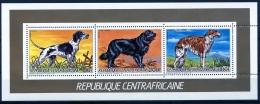 Central African Republic, 1986, Dogs, MNH Sheet, Michel 1227, 1229, 1230A - Centrafricaine (République)