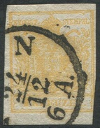 1605 -   1 Kr. Gelb - ABART Doppelseitiger Druck! - 1. Marke Österreichs - Gebraucht