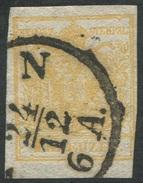 1605 -   1 Kr. Gelb - ABART Doppelseitiger Druck! - 1. Marke Österreichs