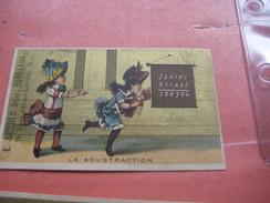 6 Litho Trade Cards Compl. Set CR 3-4-25  Printer Courbe Rouzet PUB Soubes à Bordeaux  C1880 - School Poupé Doll école - Chromos
