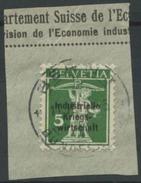 1606 -  IKW 5 Rp. Tellknabe Auf Briefstück Mit Vollstempel BERN 3 BUNDESHAUS 11.II.19 - Dienstpost