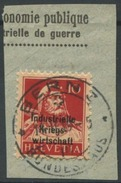 1607 -   IKW 10 Rp. Tell Auf Briefstück Mit Vollstempel BERN 3 BUNDESHAUS 11.II.19 - Dienstpost
