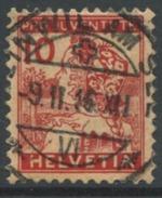 1608 - PJ 10 Rp. Luzernerli Mit Vollstempel BEINWIL AM SEE 9.II.16 - Oblitérés
