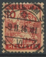 1608 - PJ 10 Rp. Luzernerli Mit Vollstempel BEINWIL AM SEE 9.II.16 - Pro Juventute