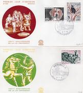 """Monaco 1975 Belle Fdc Série Animaux Loi Gramont """"protection Des Animaux (01215) - FDC"""