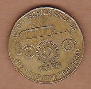 AC - AUTO TECHNIK MUSEUM 6920 SINSHEIM KRAICHGAU LOCOMOTIVE PROP PLANE TOKEN JETON - Monetary /of Necessity
