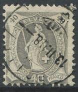 1610 -  40 Rp. Stehende Helvetia Gestempelt - SBK Katalogwert CHF 300.00 - 1882-1906 Armoiries, Helvetia Debout & UPU