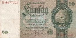 ALLEMAGNE   50 Reichsmark   30/3/1933   P. 182a - [ 4] 1933-1945 : Troisième Reich