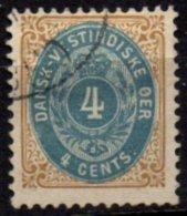 ANTILLES  DANOISES - 4 C. De 1873/79 Dentelé 121/2 Oblitéré TTB
