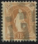 1612 - 3 Fr. Stehende Helvetia Mit Zollstempel - Oblitérés