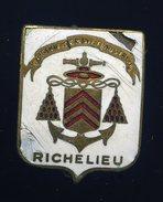 Ancien Insigne Marine émaillé -- Le Richelieu   -- Augis Lyon  Ins2 - Marine