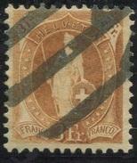 1613 - 3 Fr. Stehende Helvetia Mit Zollstempel - Gebraucht