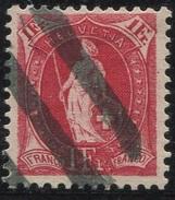 1614 - 1 Fr. Stehende Helvetia Mit Zollstempel - 1882-1906 Wappen, Stehende Helvetia & UPU