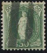1615 - 50 Rp. Stehende Helvetia Mit Zollstempel - 1882-1906 Armoiries, Helvetia Debout & UPU