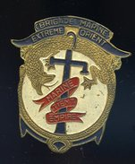 Ancien Insigne Marine émaillé -- Brigade Marine Extrème Orient - Marine Tient Empire  Ins2 - Marine