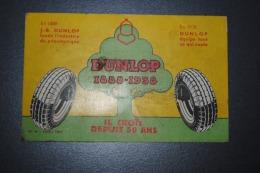 Rare Petit Buvard Dunlop Cinquantenaire 1888-1938 - Automobile