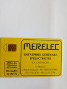 MONACO MF21 MERELEC ELECTRICITE 50U SO3 RARE