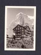 Photo Originale Vintage  Snapshot Suisse Montagne Kleine Scheidegg Hotel Des Alpes Aout 1963 - Lieux