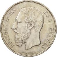 Belgique, Leopold II, 5 Francs, 5 Frank, 1873, TTB, Argent, KM:24 - 09. 5 Francs