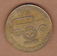 AC - AUTO TECHNIK MUSEUM 6920 SINSHEIM KRAICHGAU PROP PLANE - LOCOMOTIVE TOKEN - JETON - Monetary /of Necessity
