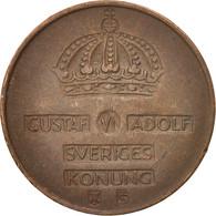 Suède, Gustaf VI, 2 Öre, 1954, TTB, Bronze, KM:821 - Suède
