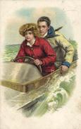 Chester, Pretty Woman With Her Friend In A Motorboat, Old Postcard - Künstlerkarten