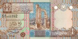 LIBYA 1/4 DINAR ND (2002) P-62 UNC [ LY526a ] - Libya