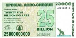 ZIMBABWE 25 BILLION DOLLARS 2008 P-62 UNC  [ZW153a] - Simbabwe