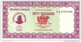 ZIMBABWE 50000 DOLLARS 2006 P-29 UNC  [ZW122b] - Simbabwe