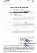CORSE PIETRA DI VERDE 1974 - EXTRAIT D ACTE DE NAISSANCE DE MASSEI ANGELE - TAMPON MAIRIE - DOCUMENT ANCIEN - Documents Historiques