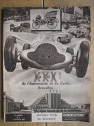 1939 REVUE TOURING CLUB DE BELGIQUE - XXXe SALON DE L'AUTOMOBILE ET DU CYCLE DE BRUXELLES - Voitures