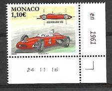Monaco 2017 -  Yv N° 3073 ** - LES VOITURES DE COURSE MYTHIQUES : LA FERRARI 156 (Mi N° 3330) - Monaco