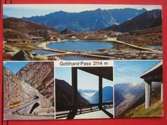 "Airolo (TI) - Mehrbildkarte ""Gotthard-Pass 2114m"" / Autobus - TI Tessin"