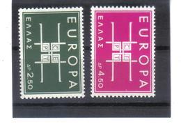 BAU948 EUROPA-CEPT 1963 GRIECHENLAND MICHL  821/22  Postfrisch SIEHE ABBILDUNG - Griechenland