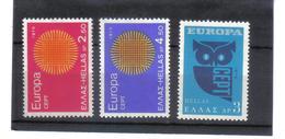 BAU955 EUROPA-CEPT 1970 GRIECHENLAND MICHL  1040/42  Postfrisch SIEHE ABBILDUNG - Griechenland