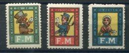 FRANCE FRANCHISE MILITAIRE Vignettes Très Rares MLH (trace De Charnière) - Franchise Militaire (timbres)