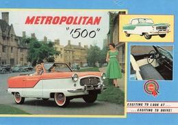 Metropolitan 1500  -  1956   -  Carte Postale - Original Manufacturer's Illustrations - Passenger Cars