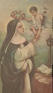 ESTAMPITA ANTIGUA - SANTA ROSA (#8) - Religión & Esoterismo