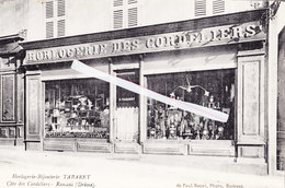 Horlogerie-Bijouterie TABARET - Côte Des Cordeliers -Romans (Drôme) - Superbe Commerce Voir Pub Au Dos - Commerce