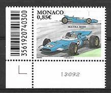 Monaco 2017 -  Yv N° 3072 ** - LES VOITURES DE COURSE MYTHIQUES : MATRA MS80 (Mi N° 3329) - Monaco