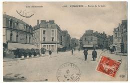CPA - FOUGERES (Ille Et Vilaine) - Sortie De La Gare - Fougeres