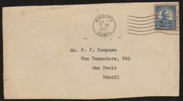 18381 Eua Envelope Circulado Roosevelt 1937 - 1851-1940