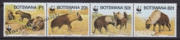Botswana 1995 Yvert 737- 40, Nature Protection, Fauna - WWF - MNH - Botswana (1966-...)