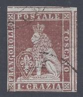 TOSCANA 1851 1cr CARMINIO BRUNO Nº 4e - Toscana