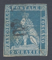TOSCANA 1851 2cr AZZURRO Nº 5 - Toscana