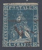 TOSCANA 1857 6cr AZZURRO Nº 15 - Toscana