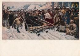 Painting By V. Surikov - Noblewoman Morozova , 1887 - Horse Sledge - Russian Art - 1941 - Russia USSR - Unused - Schilderijen