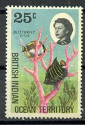 British Indian Ocean Territory1968 25 Cent  Butterfly Fish Issue #20  MNH - British Indian Ocean Territory (BIOT)