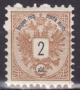 LEVANTE 1883 ANK 8  2 SOLDI MLH - Unused Stamps